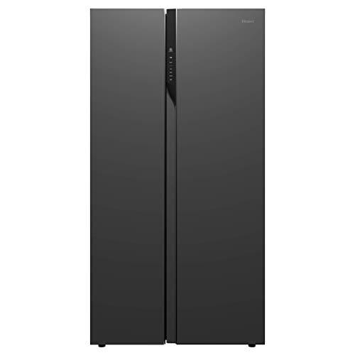 Haier 570 L Inverter Frost-Free Side-by-Side Refrigerator with Twin Inverter Technology (HRF-622KS, Black Steel)