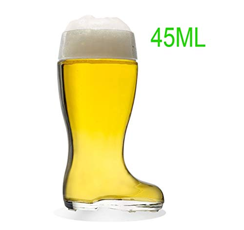 Glass Beer Boots, Beer Glass Football Design XXL, Botas para Beber, Botas, Vaso De Cerveza, Botas De Cerveza Idea De Regalo Amantes De La Cerveza, Regalo De Cumpleaños Oktoberfest
