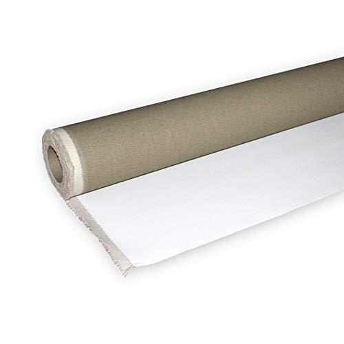 Niik Rotolo Tela per dipingere in 100% Cotone Bianco Trama Fine 156 cm / 10 mt Tele in Rotoli pittorica Bianca da Pittura