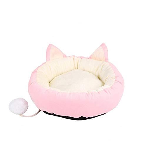 Hundebett Super Soft Pet Schlafsofa Angebote Kopf-Hals-und Joint Support Premium-Bettwäsche für Katzen oder kleine Hunde Rosa M, Pet Supplies