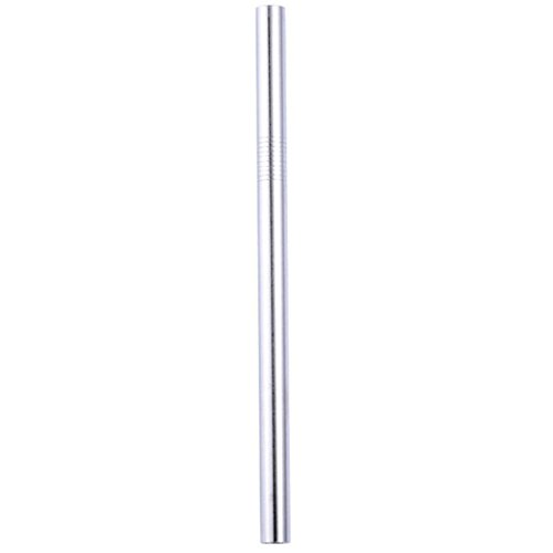 YJYDADA Colorful Long Stainless Steel Metal Drinking Straws Reusable Drinking Straws (Silver)