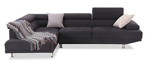 Sedexx Newtown Sofa 267x195 cm Couch 2-teilig L-Links Ecksofa Polstergarnitur schwarz