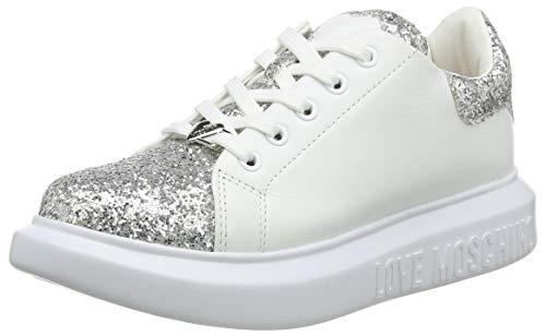 Love Moschino JA15654G0BJ6290B, Sneaker Donna, Argento, 40 EU