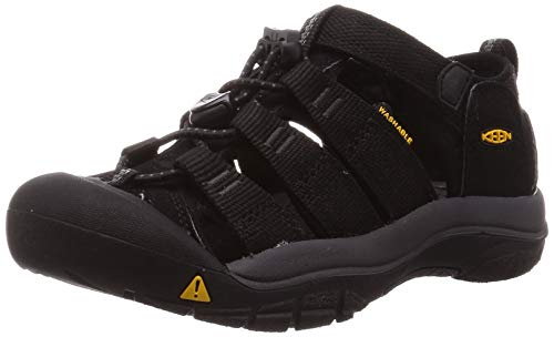 Keen Unisex Kinder Newport H2 Sandale, Schwarz (Black/Keen Yellow), 29 EU