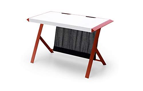 MC Racing, Tisch, Schreibtisch, Computertisch, MDF/Weiß/Rot, 60 x 127 x 75 cm, 40141WR4
