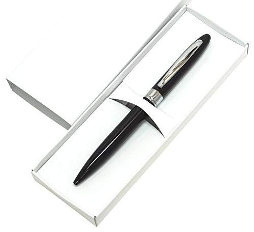 ラスティングピース金属回転式ボールペン 5本パック 化粧箱入 黒1.0ミリ芯 真鍮製回転式ボールペン 全てのパーツが曲線美の絞り加工 金属クロームメッキパーツを含む 黒 K2-TK23-5-B