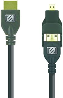 SCOSCHE HDMI6MM trueVIEW pro Mini/Micro to HDMI Cable for Most Smartphones