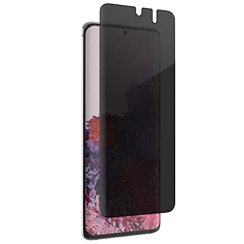 ZAGG InvisibleShield Glass Fusion Privacy Plus - Privacy Screen Protector- Made for Samsung Galaxy S20 - Case Friendly
