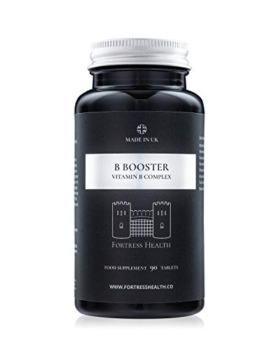 B Booster Vitamin B Complex – 90 Tablets – 3 Month's Supply – Premium Quality – Boost Your Energy Levels and Immune System - by Fortress Health