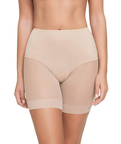 Pantalon Faja Anti-rozadura Invisible y Super Ligero. Tejido Elastico y Super Suave. (Beige, XL)