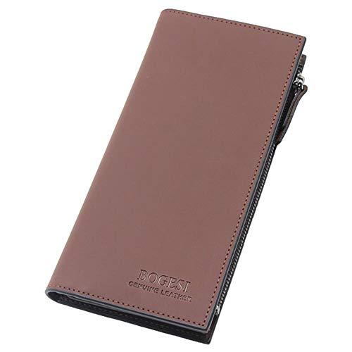 Erfhj leren portefeuille heren ritssluiting en gesp korte portefeuille eenkleurig heren portefeuille kaarthouder houder mobiele telefoon tas