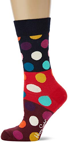 Happy Socks Damen Big Dot Block Socken, Mehrfarbig (Multicolour 430), 4/7 (Herstellergröße: 36-40)