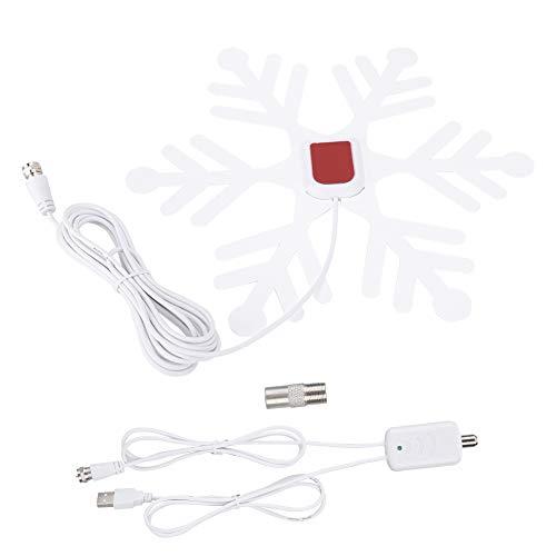 Cuque Antena Digital, Nueva Antena de TV del Aspecto de los amplificadores, USB para el hogar(White)