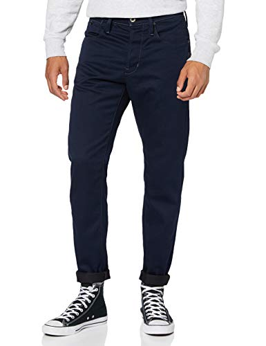 G-STAR RAW Mens Loic Relaxed Tapered Colored Jeans, Mazarine Blue 9124-4213, 36W / L34