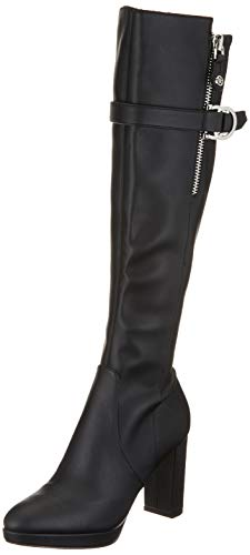 Guess ABALENE/Stivale (Boot)/Leather, Botas Altas para Mujer, Nero Black Black, 40 EU