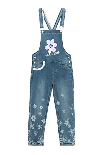 Desigual Girls Denim_TUR Casual Pants, Blue, 11/12