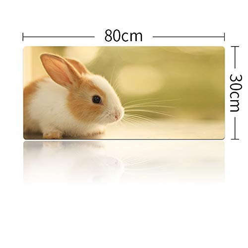 Grande Cute Rabbit Girl Mouse Pad Laptop Table Gaming Mouse Pad Lock...
