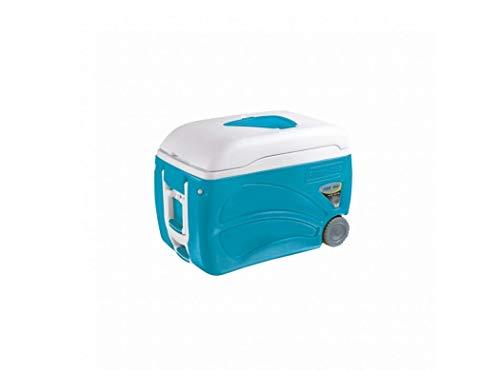 Pinnacle Nevera portátil 45 litros Roller 45L con Ruedas, Camping-Deportes, Azul Celeste, 59x37,5x43 cm