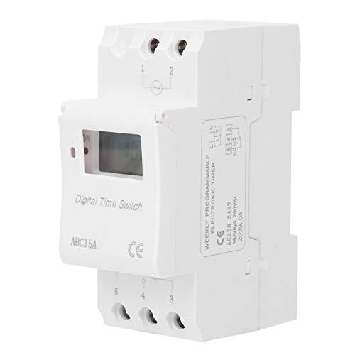 Tipo de carril Temporizador Electrónico Respuesta Rápida Resistente al Calor Interruptor Temporizador Suministros Industriales para Control