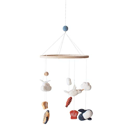 Sebra - Mobile, Windspiel - Meerestiere - Baumwolle - (DxH) 22 x 57 cm