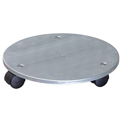 WAGNER Soporte con Ruedas para Plantas Steel Ø 30 x 5 cm I para Interior I Base de Acero Industrial Macizo, galvanizado, Plateado I Capacidad de Carga 60 kg I Fabricado en Alemania - 20006601