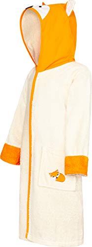 Smithy® Kinder-Bademantel aus 100% Baumwolle – Schadstofffrei und Ökotex zertifizierter Baby Morgenmantel – mit Fuchs Kapuze und Ohren