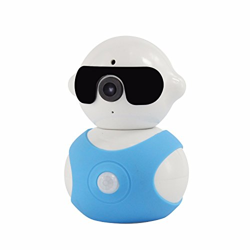 LNGRY-Ship from USA IP Camera,960P PIR Human Body Induction Alarm Smart IP Camera with Pan/Tilt (Free, Blue)