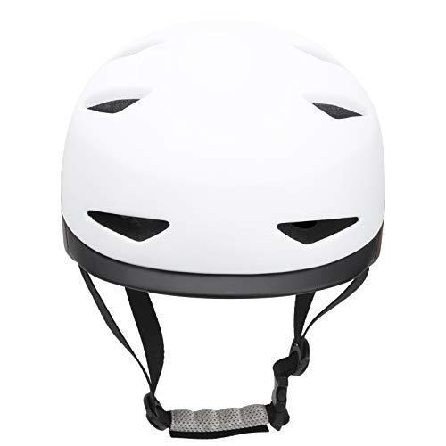 Socobeta Material de PC y EPS para Casco de Patinaje para protección de Scooter para Bicicleta(White Black, L)