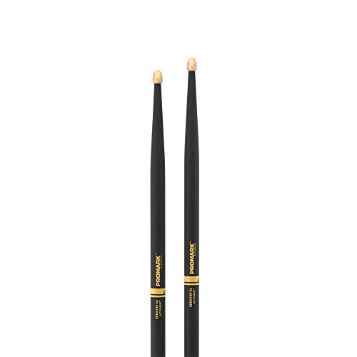 Promark ActiveGrip Forward Drumsticks, Acorn Tip, Black, Rebound 5A