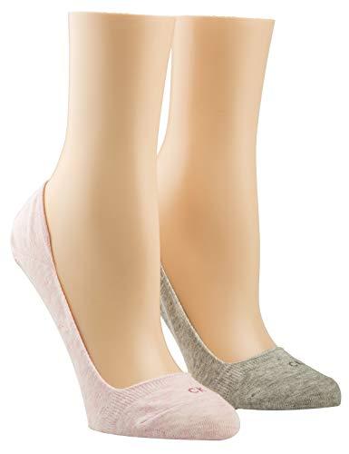 Calvin Klein Socks Womens Liner 2p Logo Hailey Socks, pink Combo, 39/42