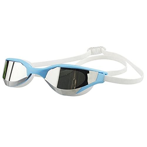 SRXSMGS Schwimmbrille Anti-Nebel Anti-Ultraviolet-Goggles-Silikon-Schwimmbrillen mit Ohrstöpsel Männer und Frauen Schwimmen Brille (Color : A)