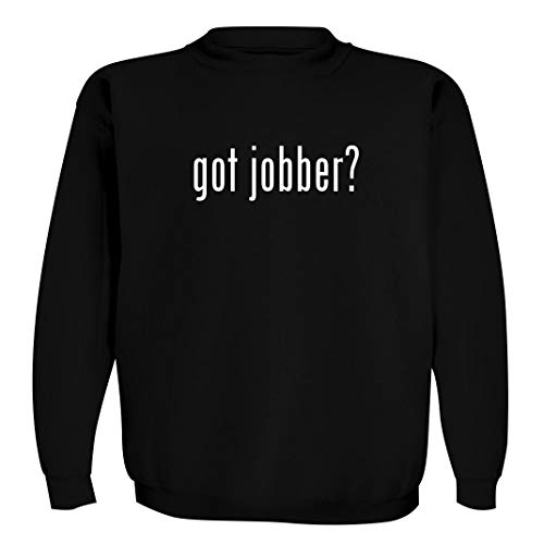 got jobber? - Men's Crewneck Sweatshirt, Black, X-Large