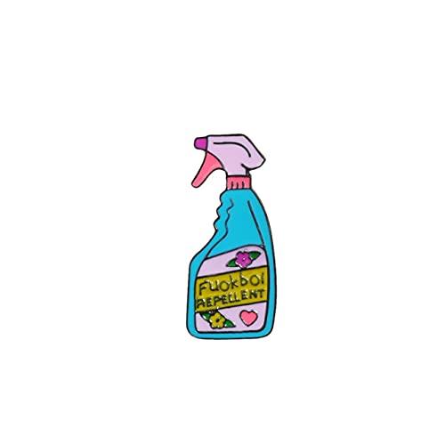 Pines de dibujos animados repelentes de patatas fritas broches divertido lindo removedor de esmalte en aerosol Pins limpieza bolsa de mezclilla insignia