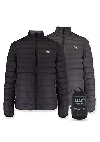 Mac in a Sac Polar-Daunenjacke Chaqueta de plumón, Hombre, Negro Intenso – Gris Oscuro, XX-Large