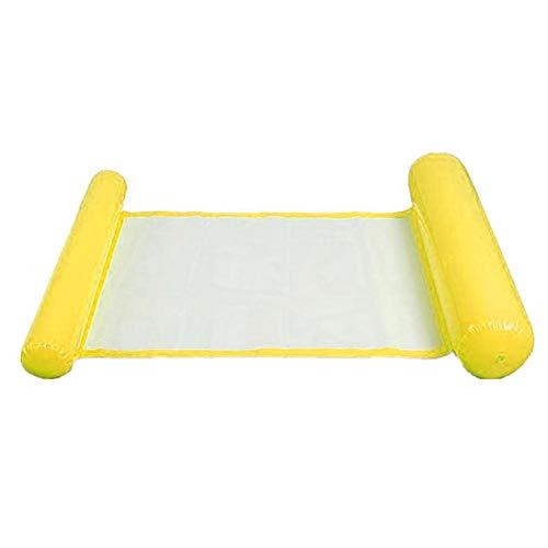 qianele Colchoneta hinchable para piscina, 120 75 cm, cama de natación hinchable con respaldo de malla plegable