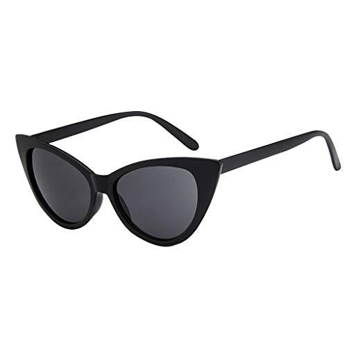 Lenfesh Katzenaugen Sonnenbrille Damen Cateye Brille Gleitsicht Frauen Weinlese Sonnenbrille Retro UV400 Eyewear Arbeiten Damen