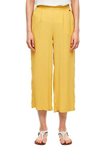 s.Oliver RED Label Damen Regular Fit: Culotte aus Crêpe Yellow 44