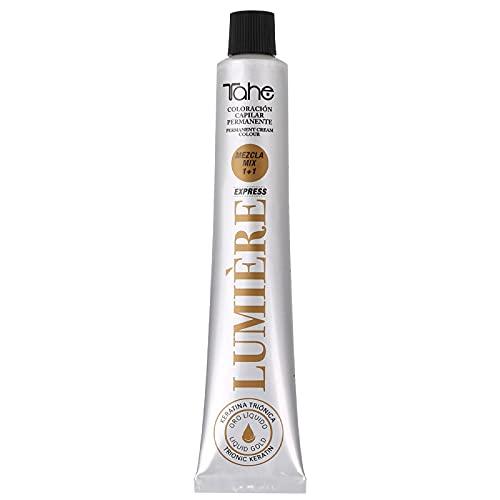 Tahe Lumière ExpressTinte de Pelo Profesional Coloración de Cabello Permanente Tinte Tono 8.1 Rubio Claro Ceniza, 100 ml