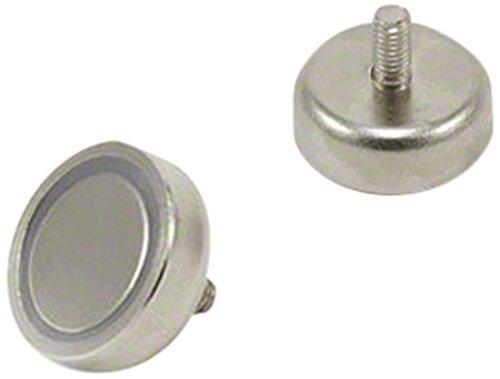 First4magnets F4MC20-1 20mm Durchmesser x 7mm dicken N42 Topf Neodymmagneten mit M4 Bolzen-15,8 kg Pull (1 Packung), silver, 25 x 10 x 3 cm