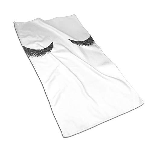 Jacklee Lashes Zwarte Glitter Mascara Haar Drogen Handdoek Ultra Water Absorbens Twist Haar Turban Drogen Haar Wrap 40x70cm