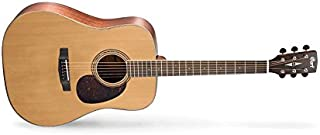 Cort. EARTH100-NAT Earth Series Acoustic guitar, natural glossy color. Solid Sitka spruce, mahogany