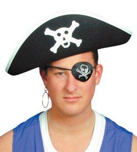 Pirate Chapeaux | Pirate Captain chapeau de feutre noir [Jouet]