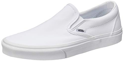 Vans - Zapatillas de skate Embossed Suede Slip-On para hombre. Color True White, número 42,5 EU