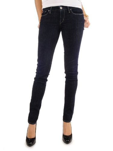 Levi's® Damen Jeans Slight Curve Skinny, normale Leibhöhe, 05403, Gr.32/34, Blau (Clean Superstretch)