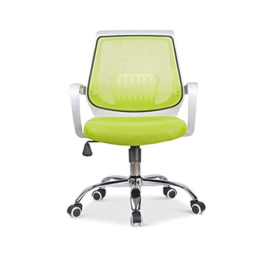 Simple Home Office Chair Ergonomic Design Mesh Seat Pan 360 Degree Swivel Max Weight Capacity 130Kg Comfortable Home Office Desk Chair Practical (Color : Green)