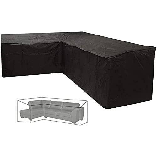 CHLDDHC Cubiertas de muebles de jardín 210D para mesa al aire libre resistente Oxford tela ratán muebles