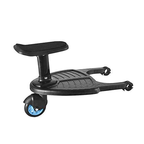 vpuquuz Kinder-Sicherheits-Kinderwagen mit Rädern, Stehbrett für Kinderwagen, Zubehör (blau, Einheitsgröße)