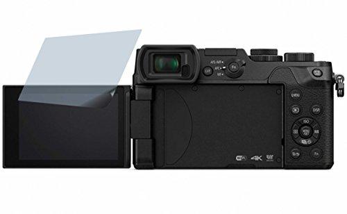 4ProTec I Panasonic Lumix DMC-GX8 (2 Stück) Premium Displayschutzfolie Bildschirmschutzfolie ANTIREFLEX Schutzhülle Displayschutz Displayfolie Folie