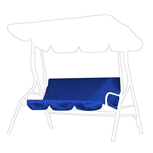 HUACHENG Fundas Funda de cojín Columpio Impermeable Funda de Silla de 3 Asientos Funda Protectora de Hamaca para Muebles de jardín al Aire Libre Tela-Azul Marino