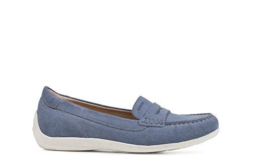 Geox Damen Slipper D Yuki B, Lt. blue, EU 38